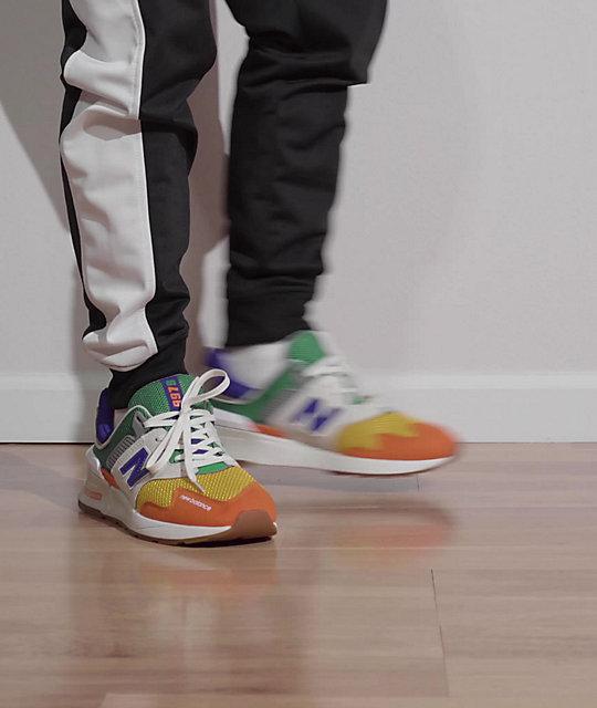 New Balance Lifestyle 997 Sport Moonbeam & Orange Shoes | Zumiez