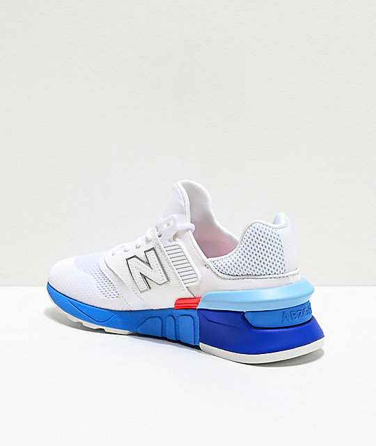 New Balance Lifestyle 997 Sport White & Summer Sky Blue Shoes
