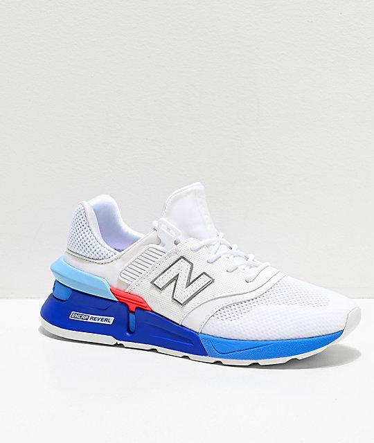 pretty nice 26e89 a4947 New Balance Lifestyle 997 Sport White   Summer Sky Blue Shoes   Zumiez