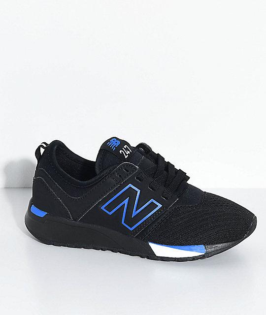 purchase cheap 38437 2022e New Balance Lifestyle Kids 247 Classic Omni Black   Blue Shoes   Zumiez