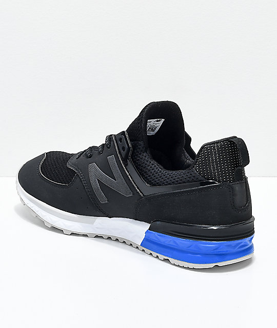 new balance 574 sport black white