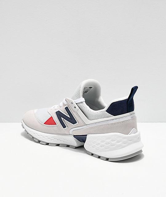hot sale online 44a73 aaf43 New Balance Lifestyle Men's 574 Sport Nimbus Cloud & White Shoes