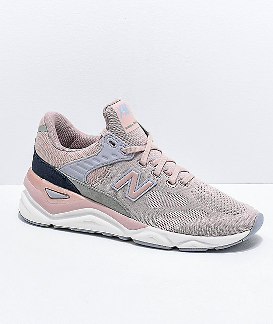 New Balance Lifestyle X90 Au Lait & Arctic Sky Knit Shoes