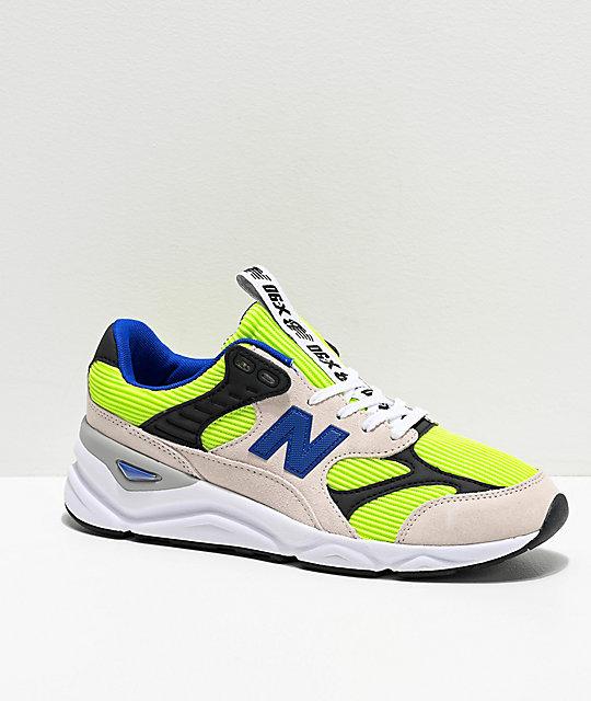 New Balance Lifestyle X90 Reconstructed zapatos en blanco, lima y azul