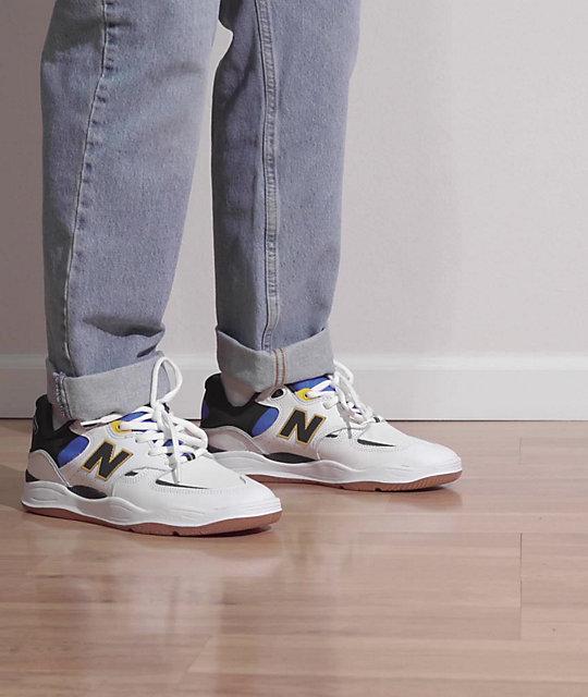 New Balance Numeric 1010 Tiago Lemos White & Blue Skate Shoes   Zumiez