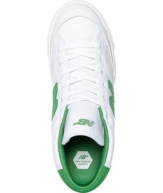 new balance blanco verde
