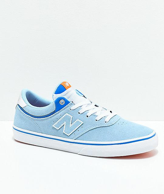 new balance azul blanco