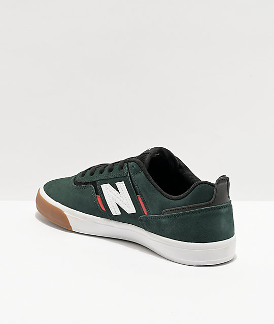 New Balance Numeric 306 Foy Green & Red Skate Shoes