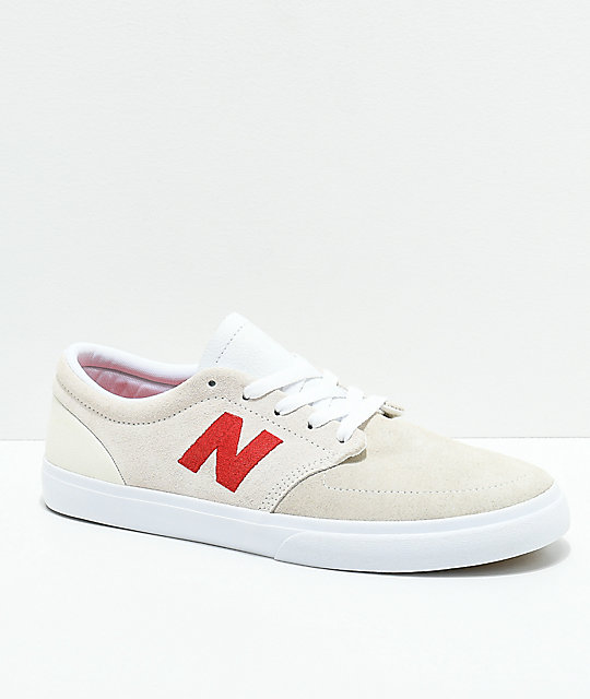 new balance beige red