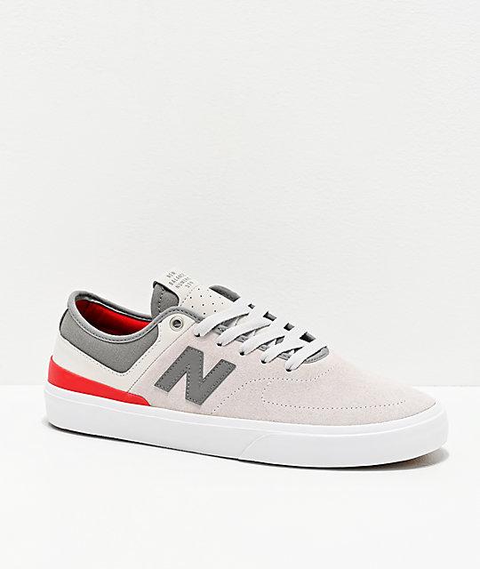 Útil alfombra árbitro  New Balance Numeric 379 Grey & Red Skate Shoes | Zumiez