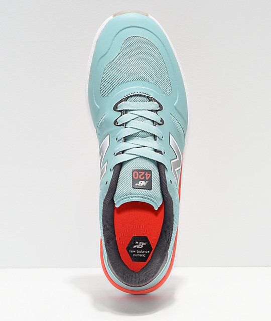 New Balance Numeric 420 Emerald Green & Grey Skate Shoes