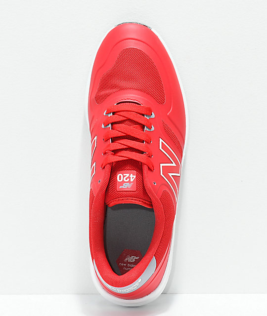 New Balance Numeric 420 Red & White Shoes