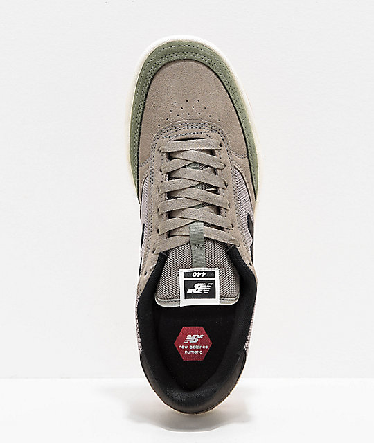 New Balance Numeric 440 Olive & Black Skate Shoes