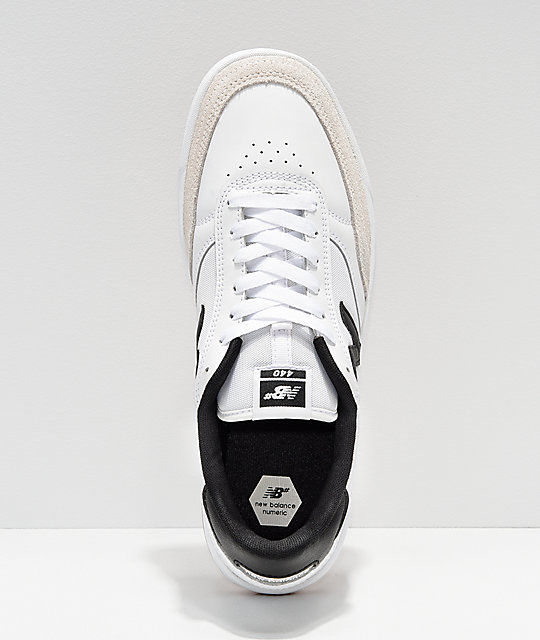New Balance Numeric 440 White & Black Skate Shoes
