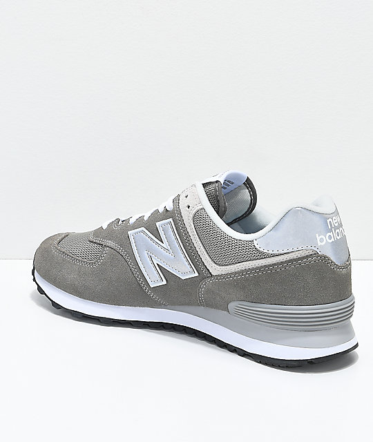 New Balance Numeric 574 Outdoor Grey & White Shoes