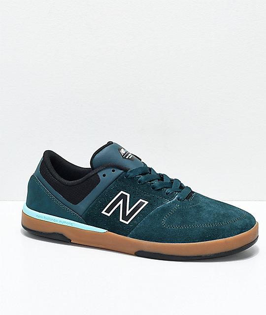 9ae0a94553bd9 New Balance Numeric PJ 533 V2 Forest Green, Black & Gum Skate Shoes    Zumiez.ca