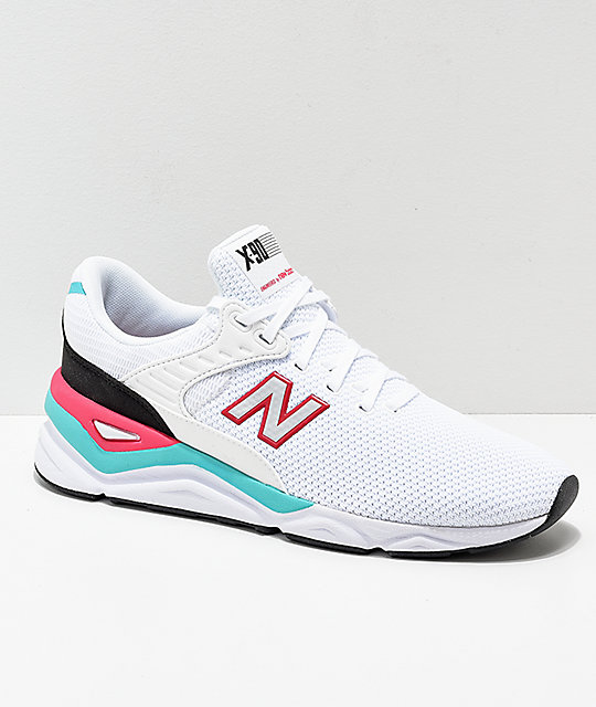 wholesale dealer eb37f 9db74 New Balance X-90 White   Pomegranate Shoes   Zumiez