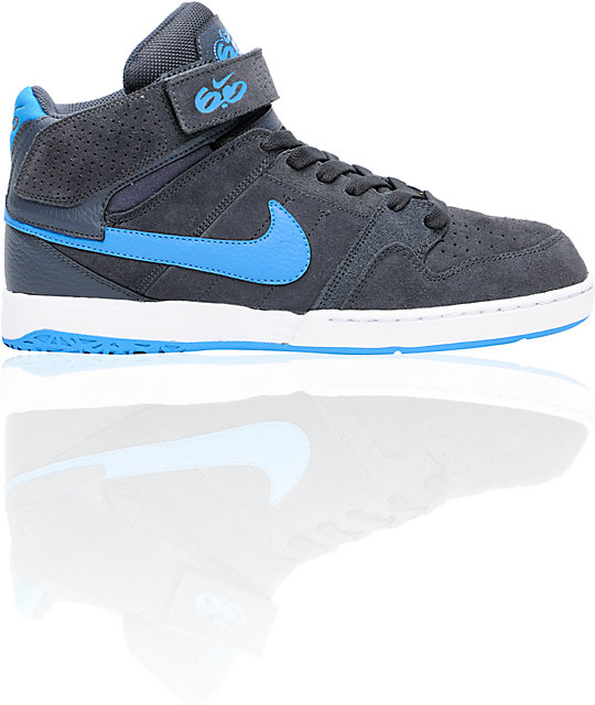Nike 6.0 Air Mogan Mid 2 Grey, Imperial Blue & White Shoes