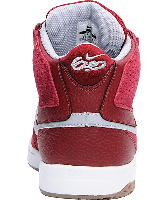 Nike 6.0 Air Mogan Mid 2 Red, White & Grey Shoes