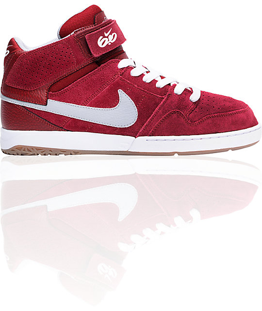 Nike 6.0 Air Mogan Mid 2 Red, White & Grey Shoes | Zumiez