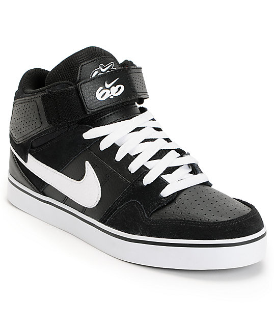 buy popular 311b6 dc603 Nike 6.0 Air Mogan Mid 2 SE Black  White Shoes  Zumiez