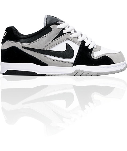 Nike 6.0 Air Zoom Oncore Medium Grey, Black & White Shoes | Zumiez