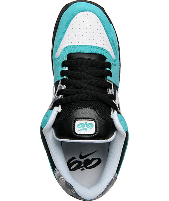 Nike 6.0 Air Zoom Oncore Retro, Black & Turquoise Shoes