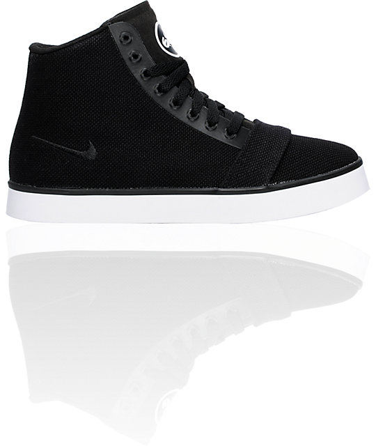 Nike 6.0 Balsa Black & White Mid-Top Shoes
