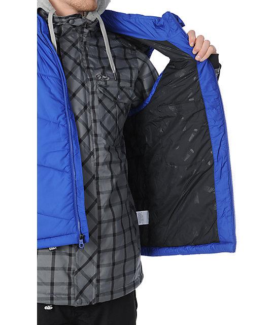 af7e64ec4d1a ... Nike 6.0 Bellevue Grey   Blue 10K Mens Snowboard Jacket ...