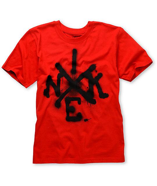 372c61e2 Nike 6.0 Boys Air & Soul Red T-Shirt | Zumiez