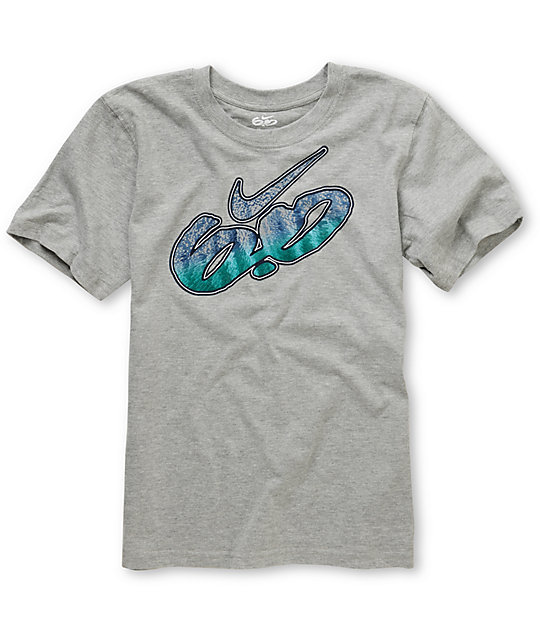 Nike 6.0 Boys Fade Heather Grey  T-Shirt