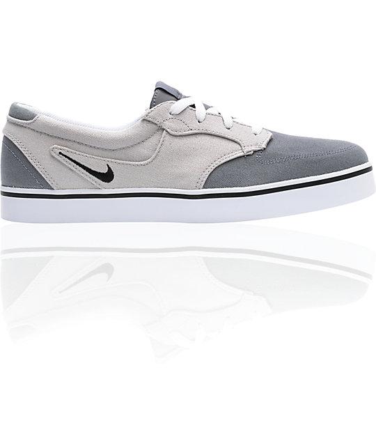 Nike 6.0 Braata Grey Canvas Skate Shoes ...