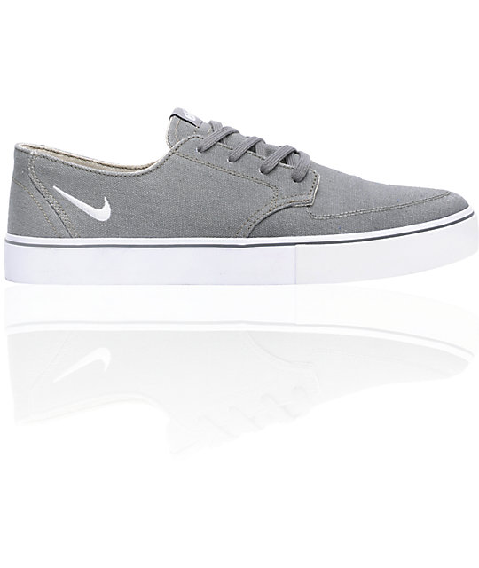 Nike 6.0 Braata LR Grey & White Skate Shoes