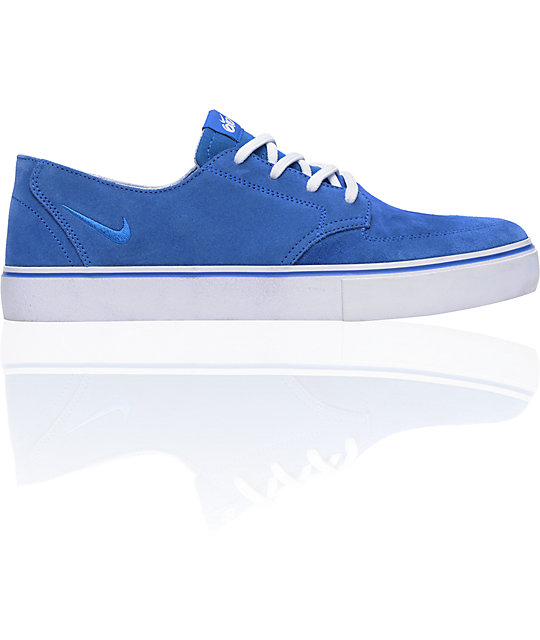 Nike 6.0 Braata LR Royal Blue & White Skate Shoes