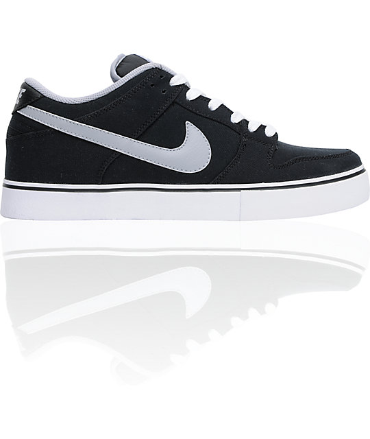 Nike 6.0 Dunk Low LR Canvas Black, White & Wolf Grey Shoes