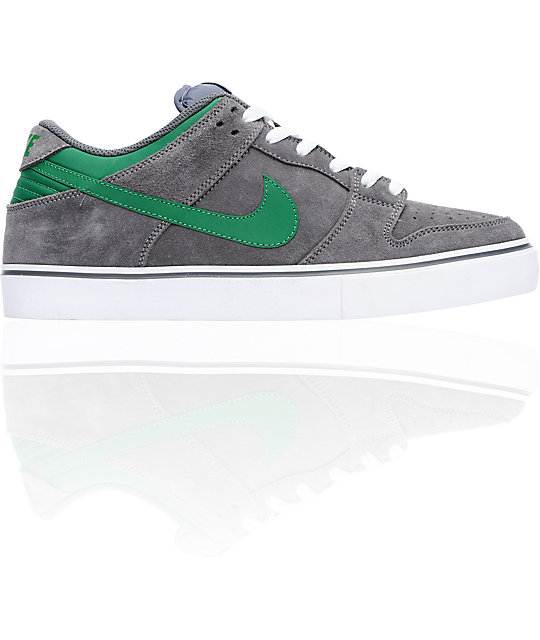 Nike 6.0 Dunk Low LR Grey & Pine Skate Shoes