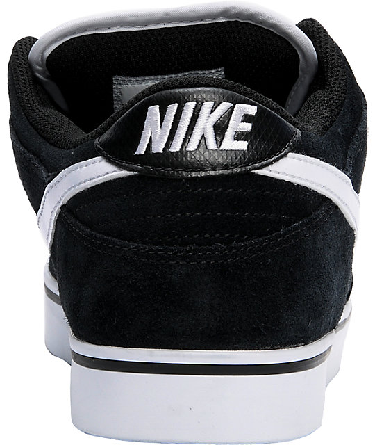 Nike 6.0 Dunk SE Black & White Suede Shoes