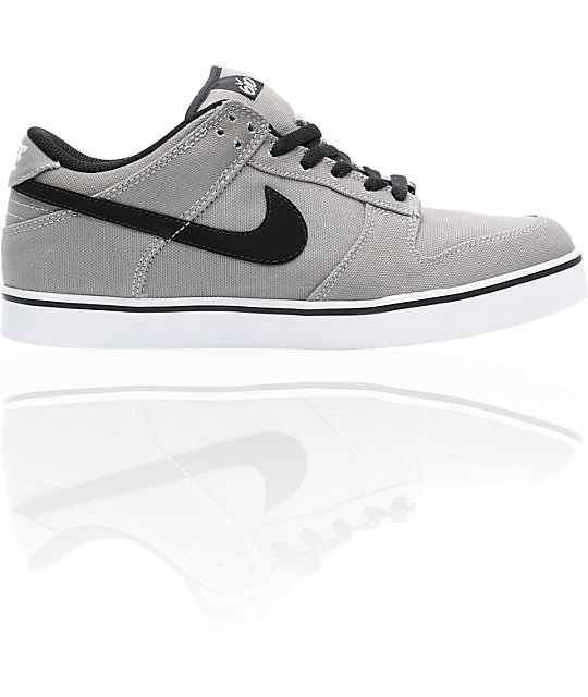 Nike 6.0 Dunk SE Grey & Black Canvas Shoes
