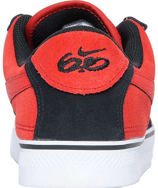 Nike 6.0 Mavrk 2 Low Black, Sport Red & White Skate Shoes