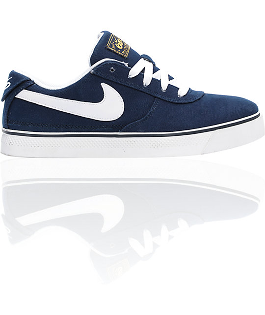 Nike 6.0 Mavrk 2 Low Obsidian & White Canvas Shoes