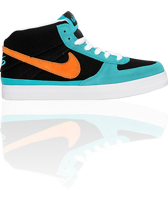 Nike 6.0 Mavrk 2 Mid Turquoise & Orange Shoes