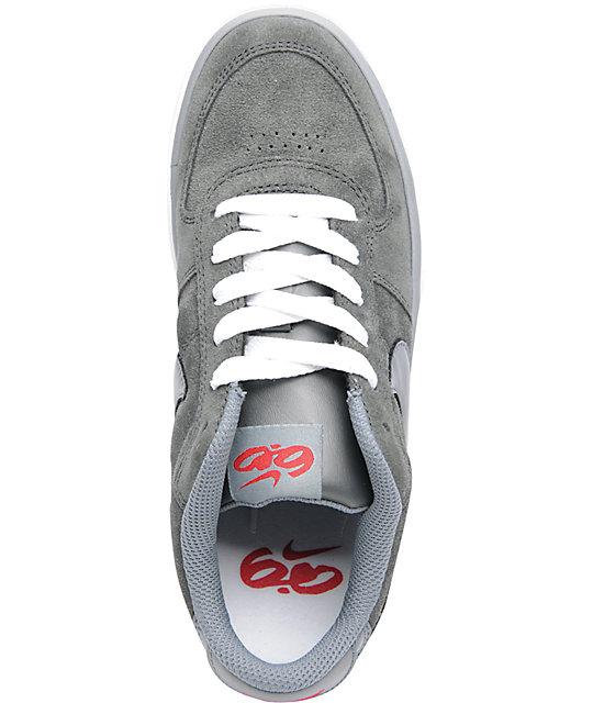 on sale a460e 26dc2 ... Nike 6.0 Mavrk Jr. Charcoal  Red Kids Skate Shoes ...