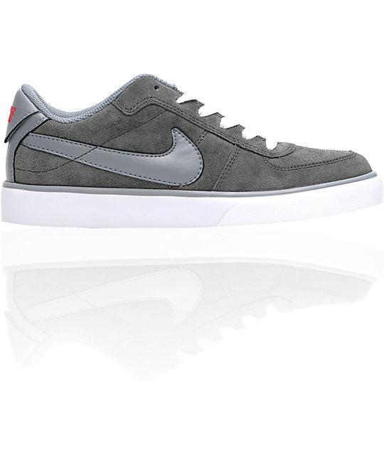 timeless design 5aa2a 35a2a Nike 6.0 Mavrk Jr. Charcoal  Red Kids Skate Shoes  Zumiez