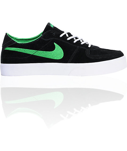 Nike 6.0 Mavrk LR Black & Green Shoes