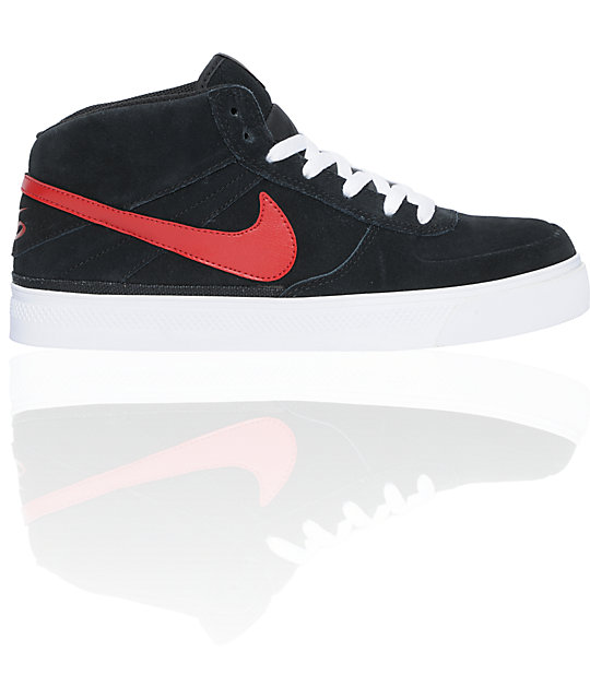 Nike 6.0 Mavrk Mid 2 Black, White & Red Shoes