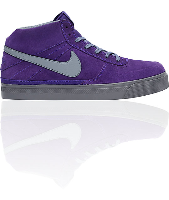 nike purple and grey shoes
