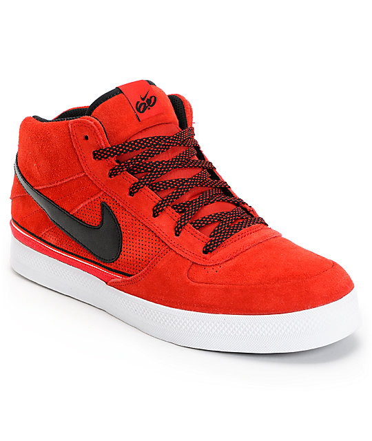 Nike 6.0 Mavrk Mid 2 Sport Red Black & White Shoes ...