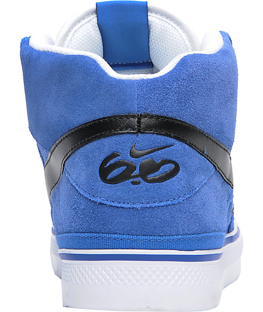 Nike 6.0 Mavrk Mid 2 Varsity Blue, Black & White Shoes