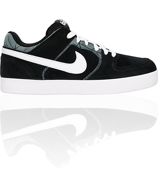 Nike 6.0 Melee Black & White Shoes