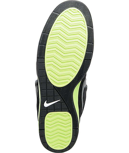 Nike 6.0 Mogan 3 Mid Black & Volt Green Skate Shoes